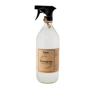lemongrass - window and glass cleaner - 32oz - bare. cleaning essentials - clean with bare