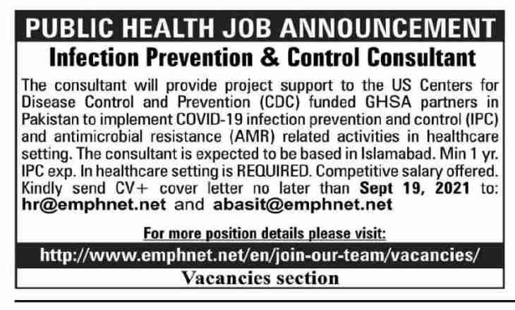 Centers for Disease Control & Prevention CDC Jobs September 2021