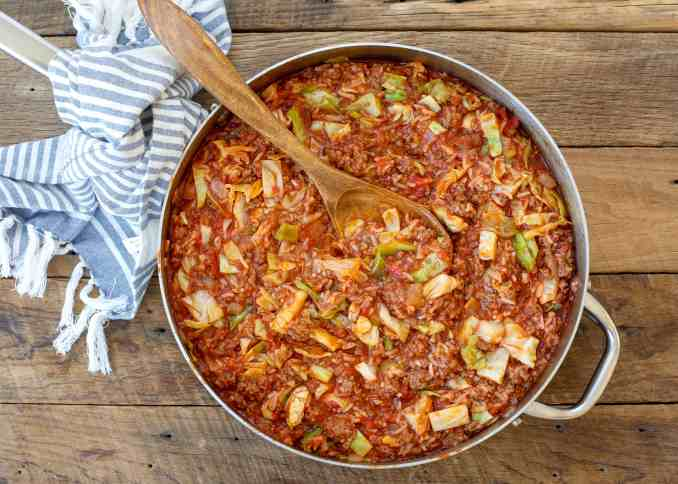 Unstuffed Cabbage Rolls | barefeetinthekitchen.com