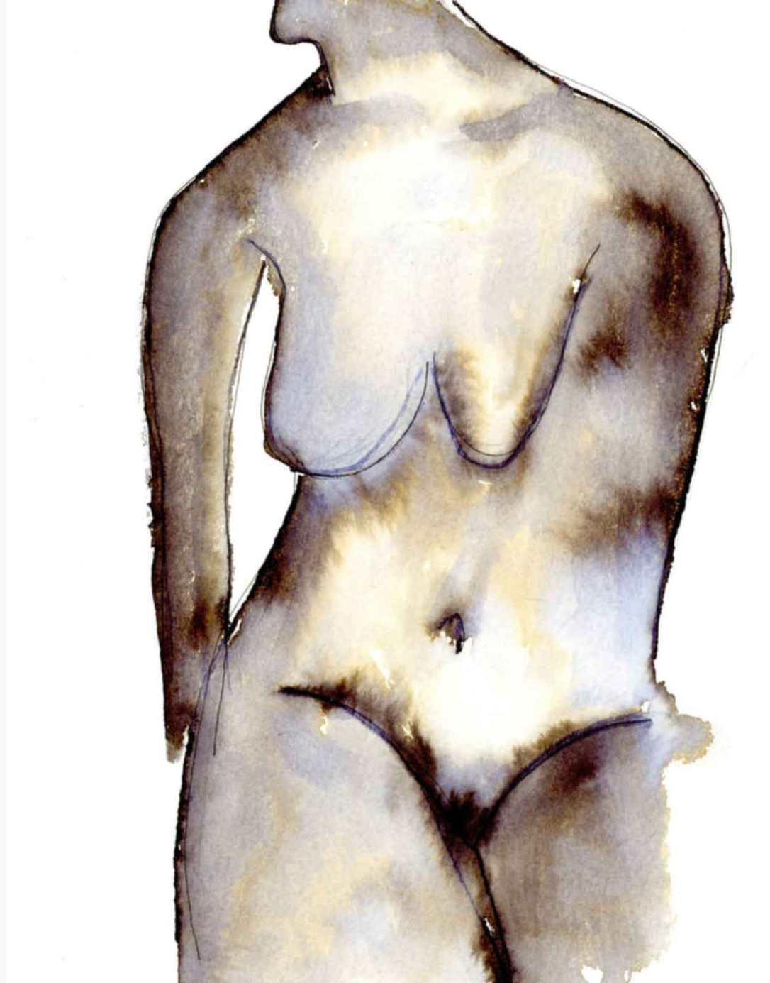 ink nude print