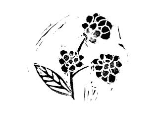 blackberry lino print