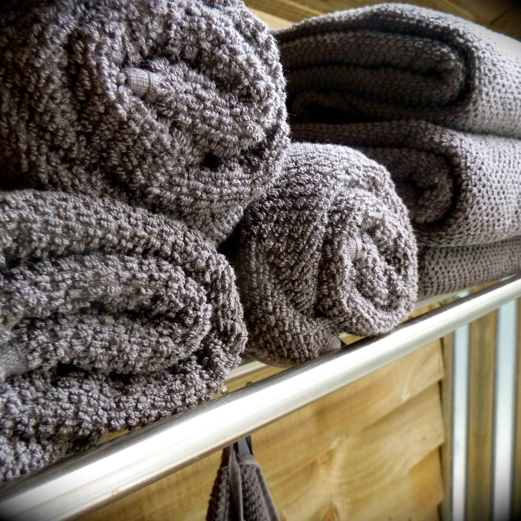fluffy towels in the ensuite shower room