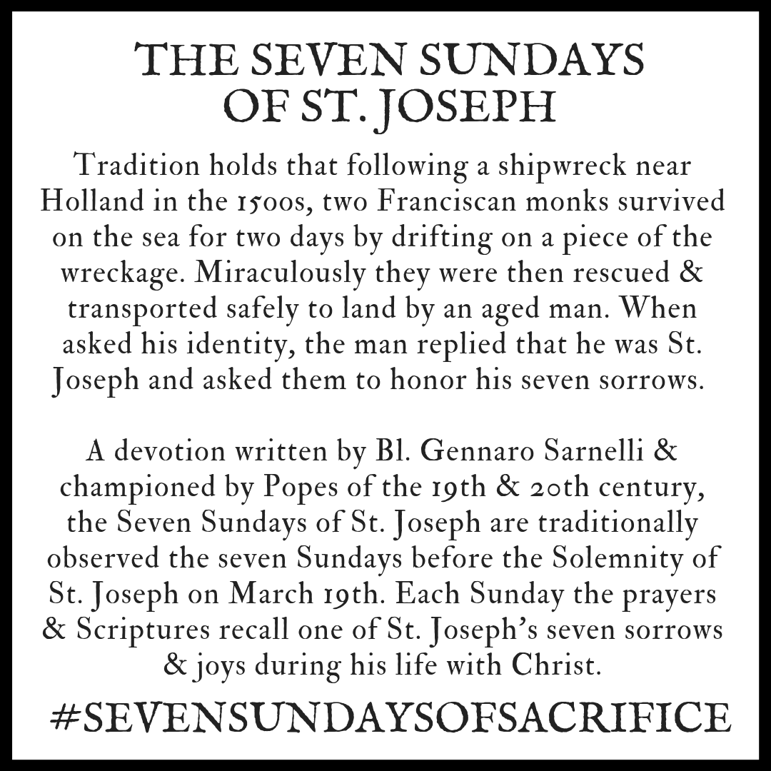 picture about Printable Prayer to St. Joseph known as 7 Sundays of Sacrifice Barefoot Abbey