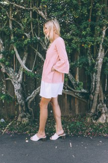 Sunset Pink Dress - Barefoot Blonde Amber Fillerup Clark
