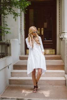 White Summer Dress Blonde