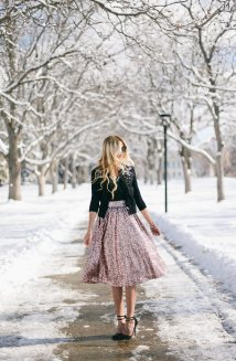 Midi Sequin Skirt Outfit