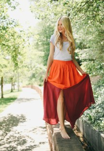 Barefoot Blonde Girl Dress