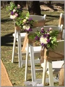 Fresh flower posies by Barefoot Bride Weddings.