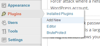 How to add the Brute Protect WordPress plugin