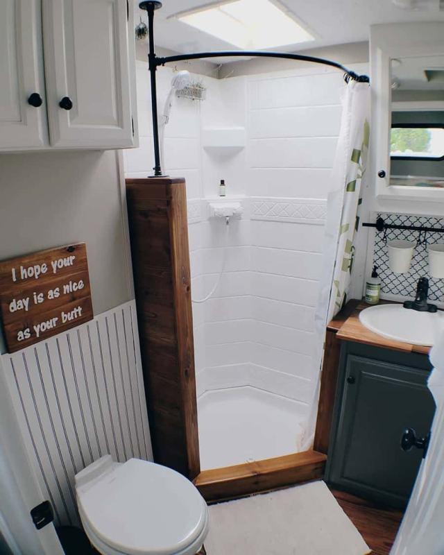 RV shower remodel