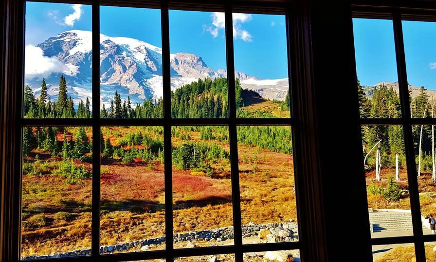 Mt Rainier Fall Window