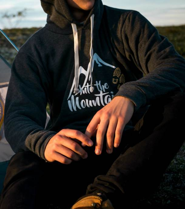 Into the Mountains Hoodie Shop