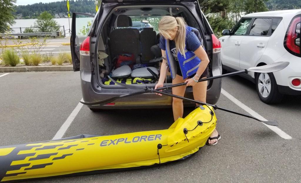 Tracy Strandness Kayak Beach Cleanup