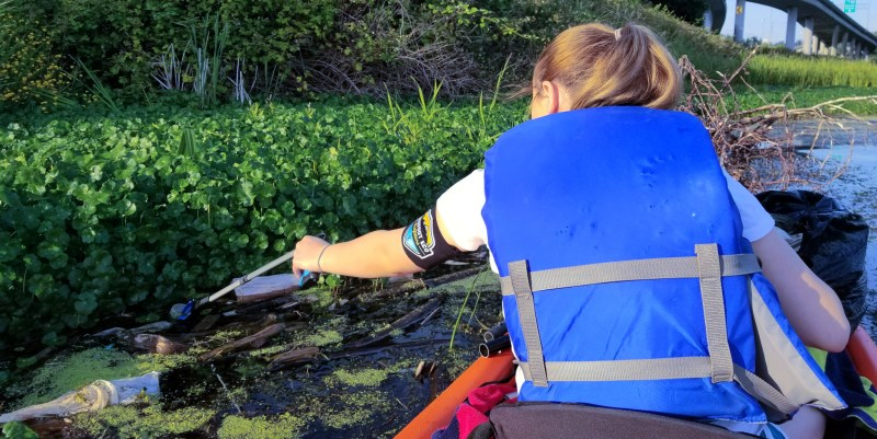 Barefoot Eco Outfitters Kayak Cleanup