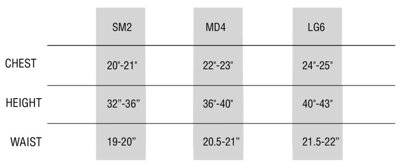 Toddler Tee Size Chart
