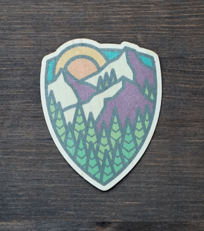Sunrise Mountain Sticker Product Photo