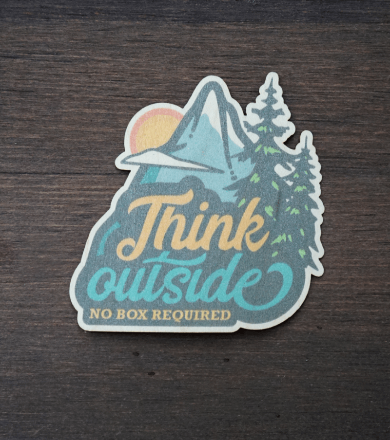 Think Outside Sticker Product Photo