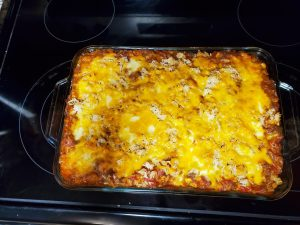Mexican Lasagna Created From Leftovers