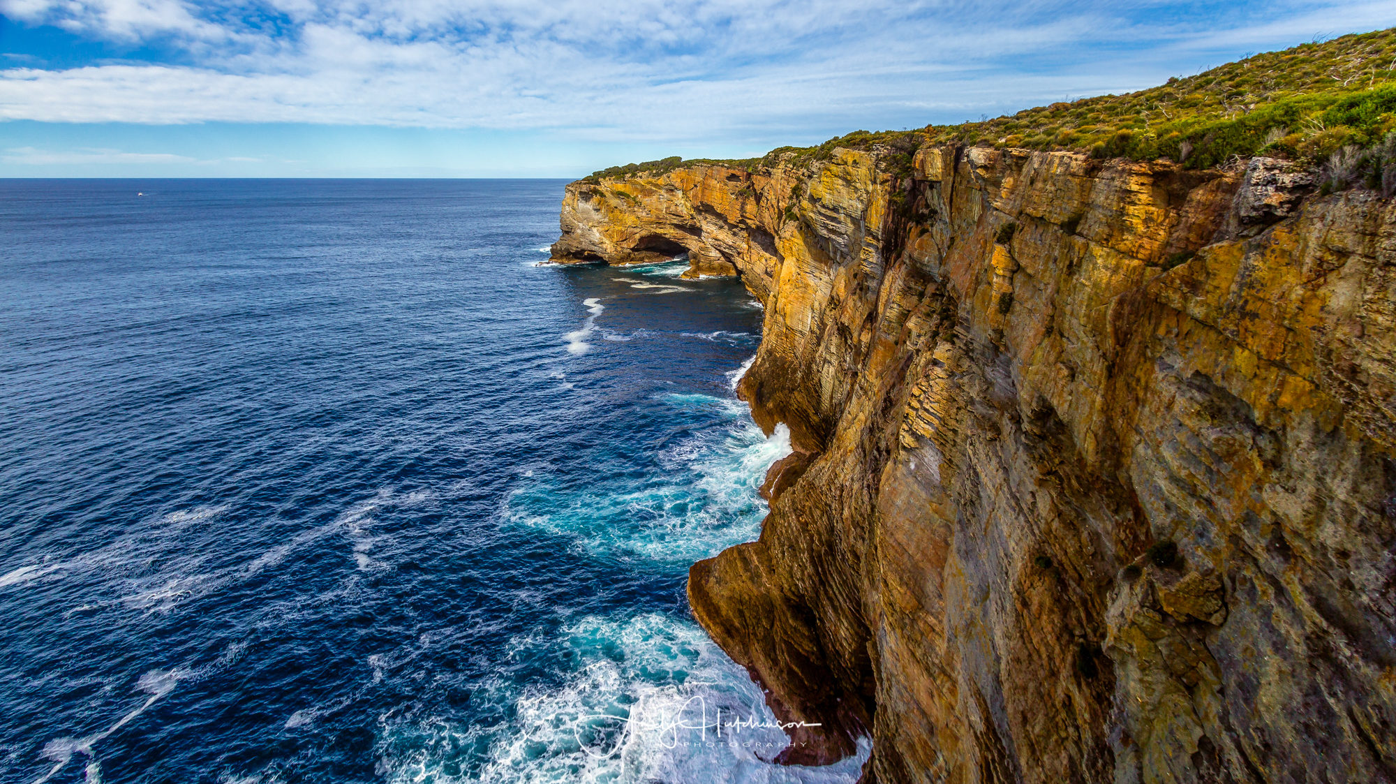 Another Snapper Point - this time in the Jervis Bay Marine Park where the cliffs and sea-caves are made from 280million year old rock and are home to seals and penguins.