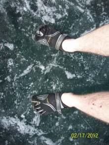 Frozen Lake Bled, Slovenia