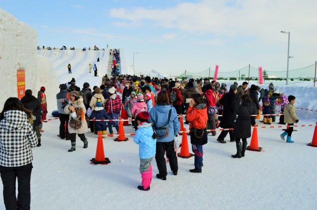 Line For Snow Sledding