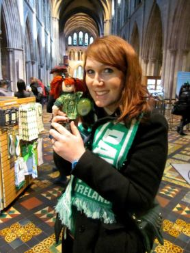 Lexi found a red headed twin at St. Patrick's Cathedral