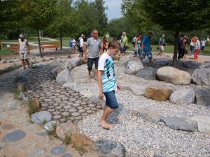 Walking on rocks