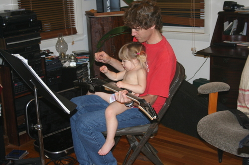 Julia_and_bill_playing_electric_112006
