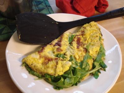 pesto omelet