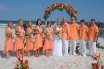 Barefoot Beach Wedding Bridal Party