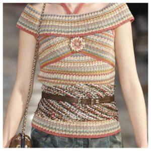 Inspirasjon til strikkedesign fra Chanel