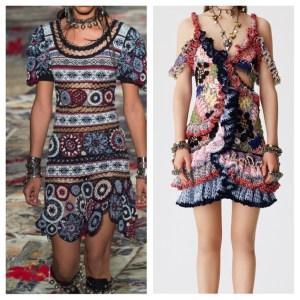 Strikke/hekle kjoler fra Alexander McQueen