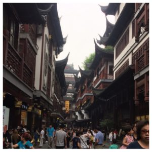 Handlegate i gamlebyen i Shanghai.