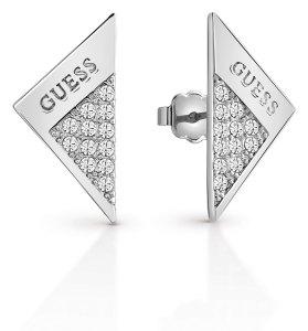 Trekantet ørepynt i sølv med stener