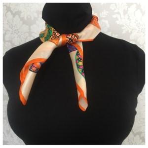 silkeskjerf orange bibba