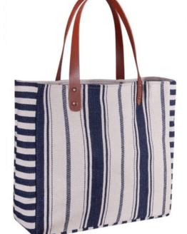 Strandbag blå