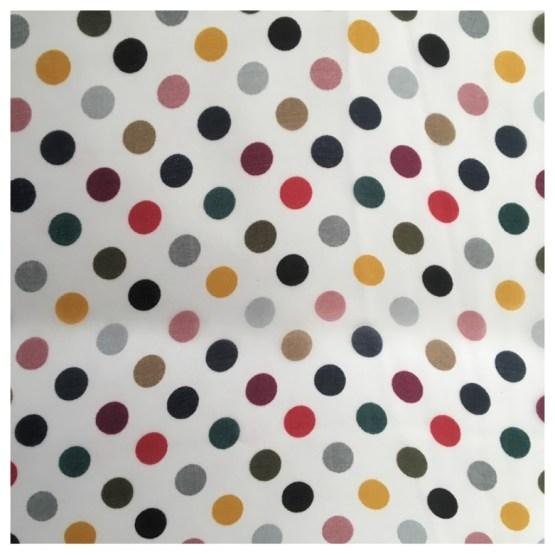 Silkeskjerf, hvitt med prikker