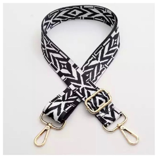 Skulderbånd sort og hvit