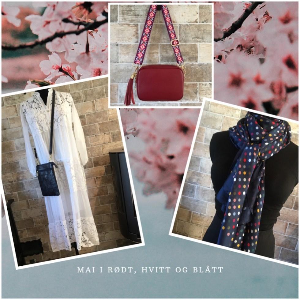 Silke. Mai i rødt, hvitt og blått