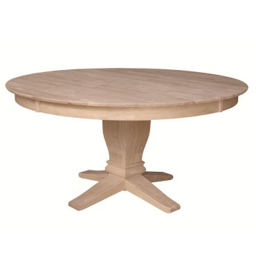 60 inch kitchen table islands home depot solid dining bare wood fine furniture groton ct with t 10b pedestal