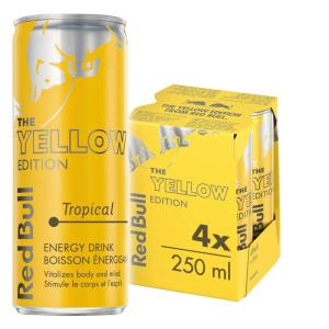 RED BULL – Tropical Yellow Edition (Pack of 4x250ml)