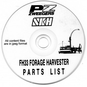 PZ ZWEEGERS FH33 FORAGE HARVESTER PARTS LIST ON CD