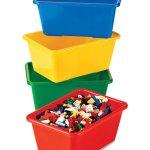 Tot Tutors Kids Primary Colors Small Storage Bins Set Of 4 6 21