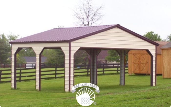 Double Carports Size Style  Prices  Bargain Barns USA