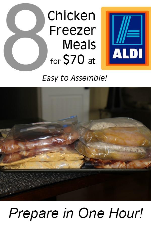 One Hour 8 Chicken Freezer Meals under $70 at Aldi