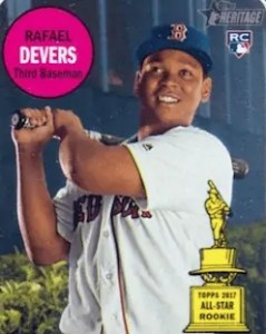 retro rafael devers rookie card