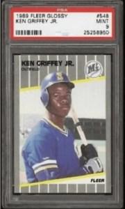 ken griffey jr rookie card fleer