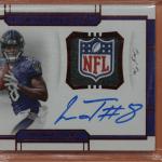 Lamar Jackson rookie card national treasures
