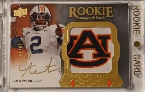 exquisite Cam Newton rookie card