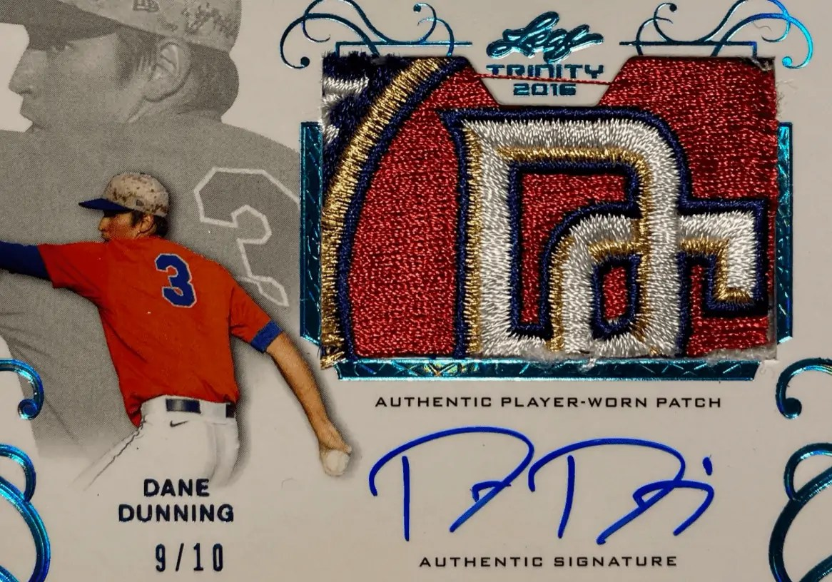 Dane Dunning Rookie Card Leaf